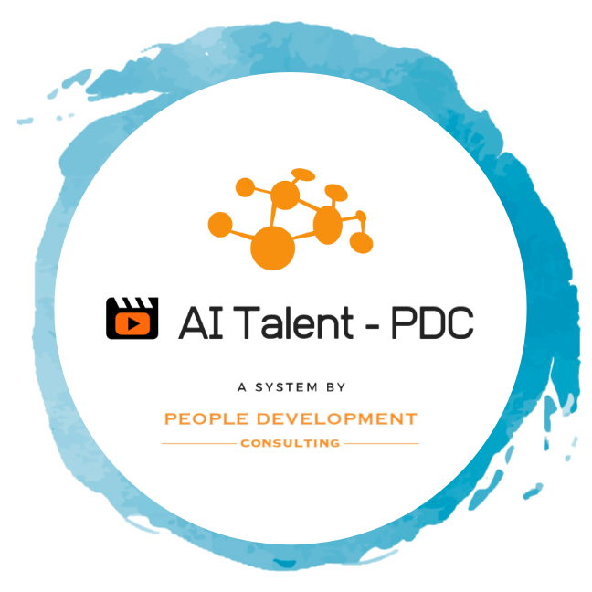 AI Talent PDC logo with a circular stroke of watercolor.